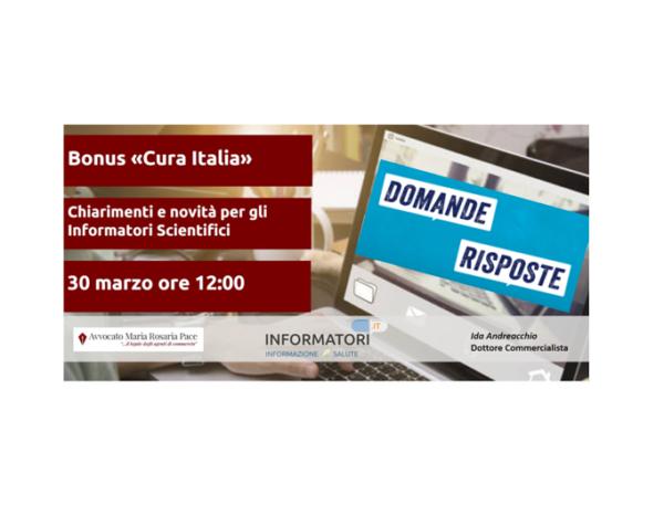 Decreto Cura Italia – Quali novità per gli ISF? Domande e Risposte dal Webinar