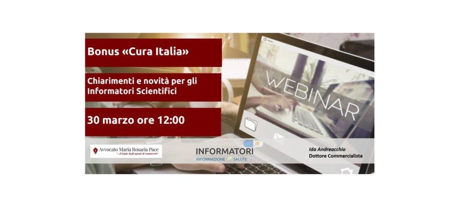 Decreto Cura Italia – Quali novità per gli ISF? Iscriviti al Webinar gratuito